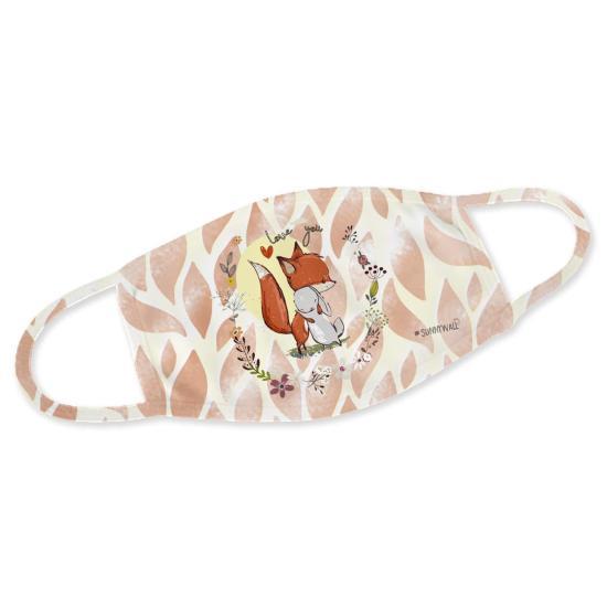 Fuchs und Hase - Mundbedeckung Nasenmaske Mundmaske Gesichtsmaske Staubmaske Behelfsmaske
