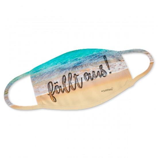 Strand fällt aus - Mundbedeckung Nasenmaske Mundmaske Gesichtsmaske Staubmaske Behelfsmaske