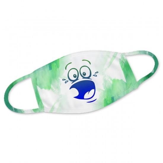 Gesicht erschrocken - Mundbedeckung Nasenmaske Mundmaske Gesichtsmaske Staubmaske Behelfsmaske