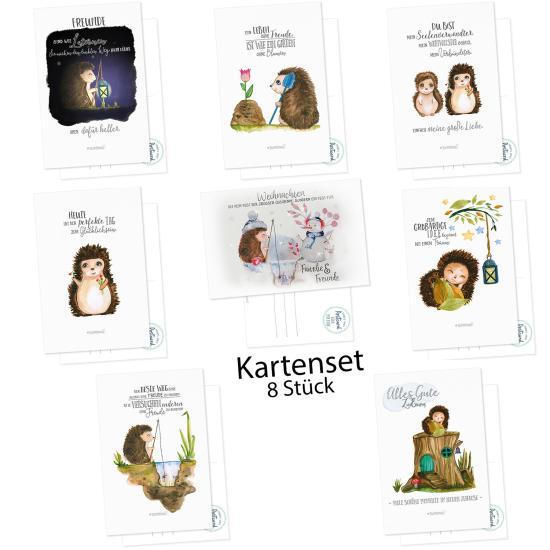 Postkarte Igel - Postkarten Set Kollektion