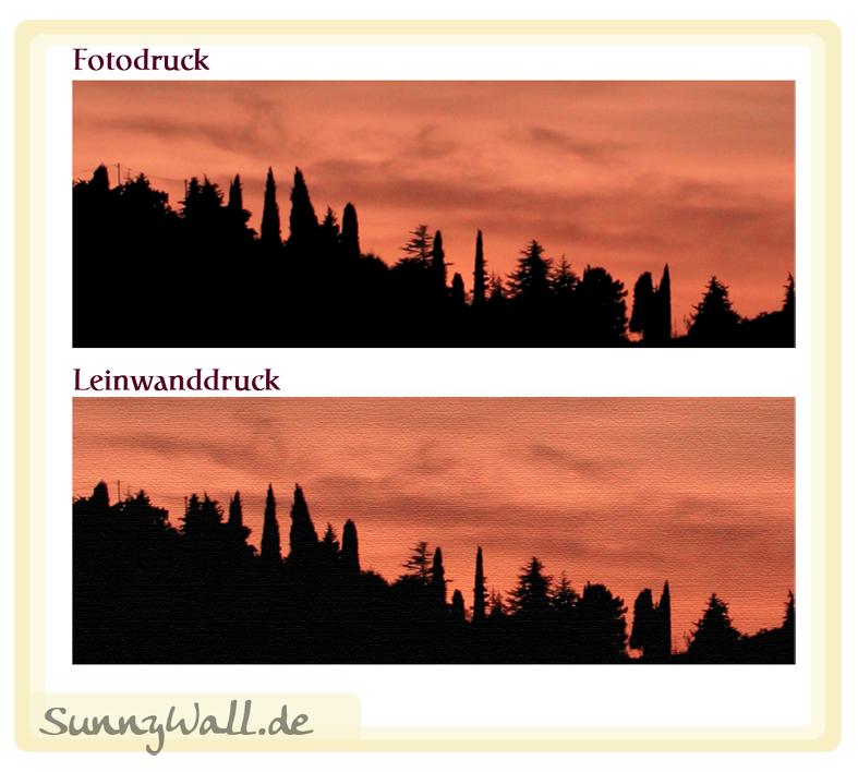 leinwand fotodruck poster bild landschaft silhouette wald. Black Bedroom Furniture Sets. Home Design Ideas