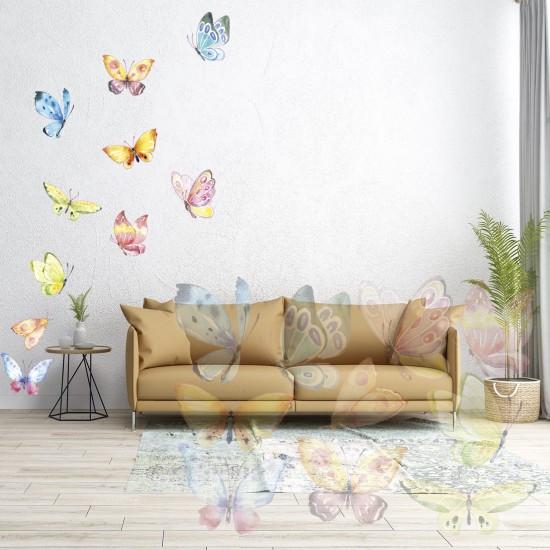 Wandtattoo Schmetterlinge Bunt – Dekor