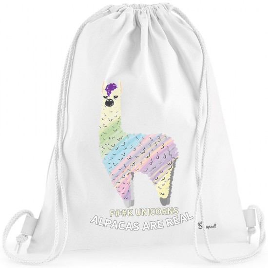 164b-Alpacas-are-real-Alpaka-Turnbeutel-bag-Sportsack-standard-weiss-neu.jpg