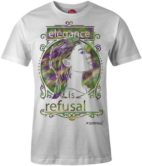 c090e1bed28405 T-Shirt - elegance is refusal Uni men weiss