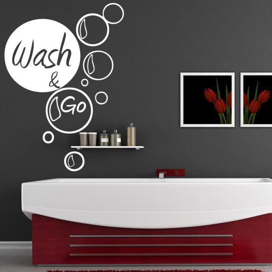 340+ Wandtattoo Wandaufkleber Türaufkleber Bad Wash /& Go boubles blasen