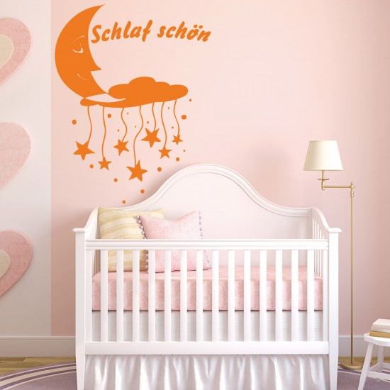 schlaf sch n f r wohnzimmer kinderzimmer wandtattoo sunnywall online shop. Black Bedroom Furniture Sets. Home Design Ideas