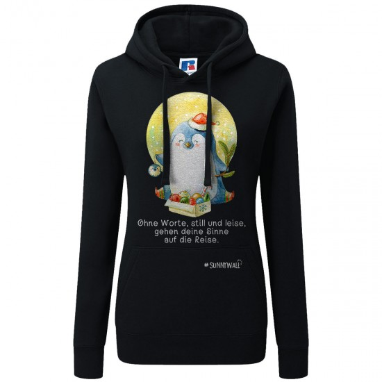 Pinguin Ladies Sweatshirt Hoodie Familie Nigel ohne Worte still leise Sinne Reise