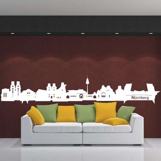 skyline wandtattoo n rnberg sunnywall online shop. Black Bedroom Furniture Sets. Home Design Ideas