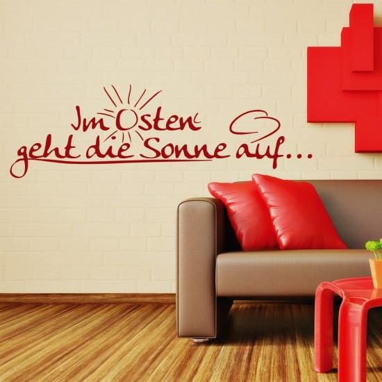 wandtattoo im osten geht die sonne auf sunnywall. Black Bedroom Furniture Sets. Home Design Ideas