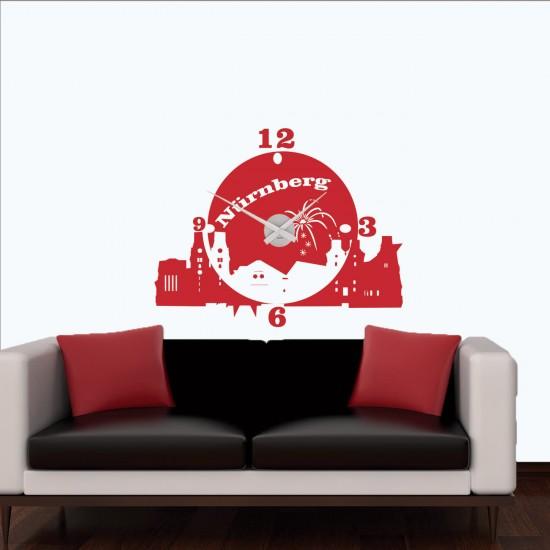 wanduhr n rnberg als skyline sunnywall online shop. Black Bedroom Furniture Sets. Home Design Ideas