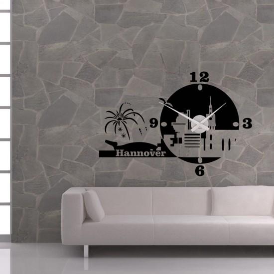 wanduhr hannover als skyline sunnywall online shop. Black Bedroom Furniture Sets. Home Design Ideas