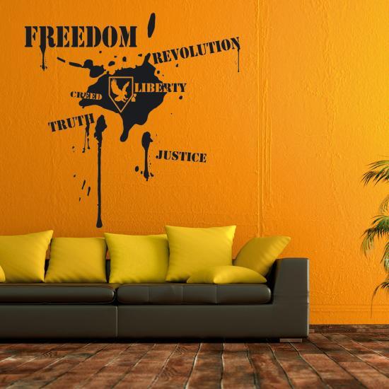 Wandtattoo revolution in ihren vier w nden sunnywall online shop - Wandsticker graffiti ...