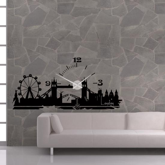 wandtattoo uhr skyline art london sunnywall online shop. Black Bedroom Furniture Sets. Home Design Ideas