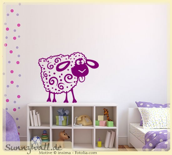 Wandtattoo wandaufkleber schaf sheep kinderwelt for Wandtattoo schaf kinderzimmer