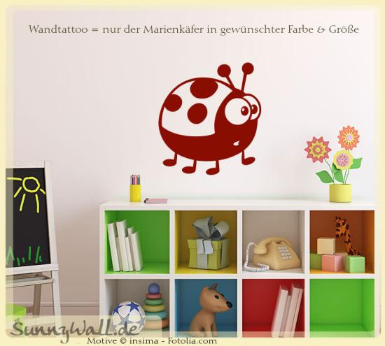 wandtattoo wandaufkleber marienk fer lady beetle sunnywall online shop. Black Bedroom Furniture Sets. Home Design Ideas