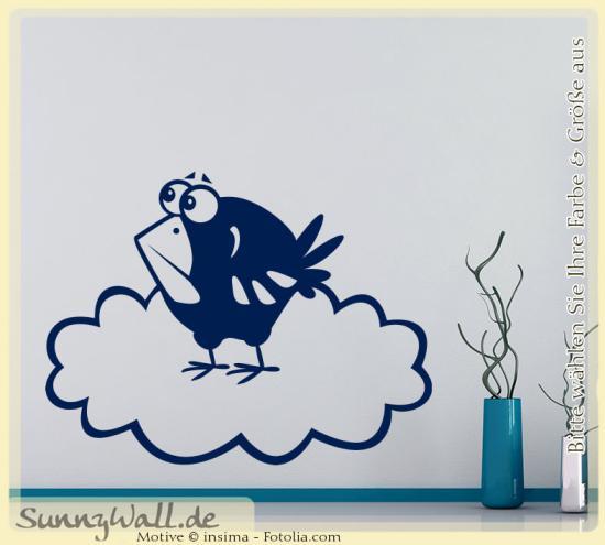 Wandtattoo Wolke Weiß : Wandtattoo  Vogel aus Wolke birds  Sunnywall OnlineShop