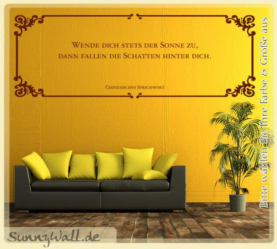 wandtattoo wende stets der sonne zu schatten hinter dich sunnywall online shop. Black Bedroom Furniture Sets. Home Design Ideas