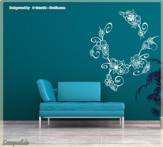 wandtattoo bl tenwunder blumenkranz blume ranke sunnywall online shop. Black Bedroom Furniture Sets. Home Design Ideas