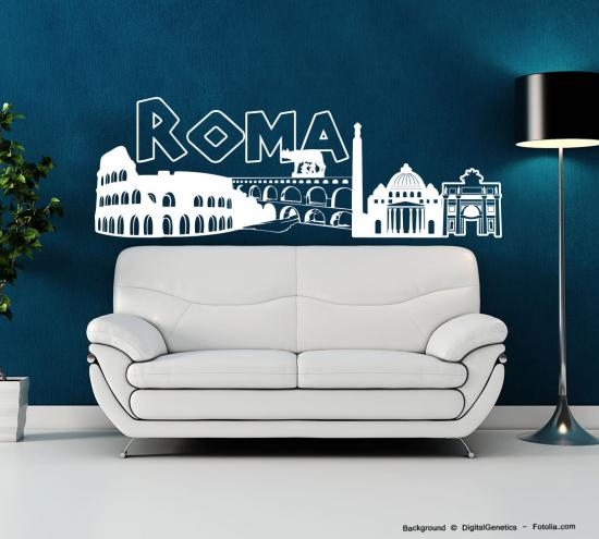 wandtattoo wandaufkleber rom roma skyline sunnywall online shop. Black Bedroom Furniture Sets. Home Design Ideas
