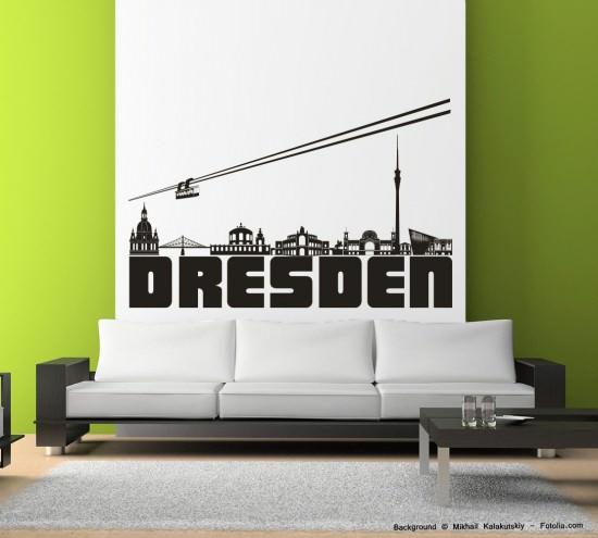 wandtattoo wandaufkleber dresden skyline sunnywall online shop. Black Bedroom Furniture Sets. Home Design Ideas