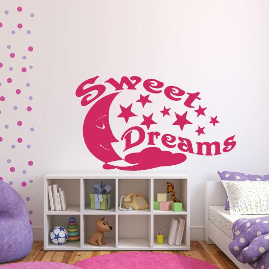 sweet dreams f r schlafzimmer kinderzimmer wandtattoo sunnywall online shop. Black Bedroom Furniture Sets. Home Design Ideas