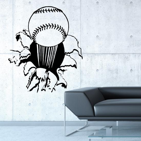 wandtattoo baseball f r hobbyzimmer sportbereich wandtattoo sunnywall online shop. Black Bedroom Furniture Sets. Home Design Ideas