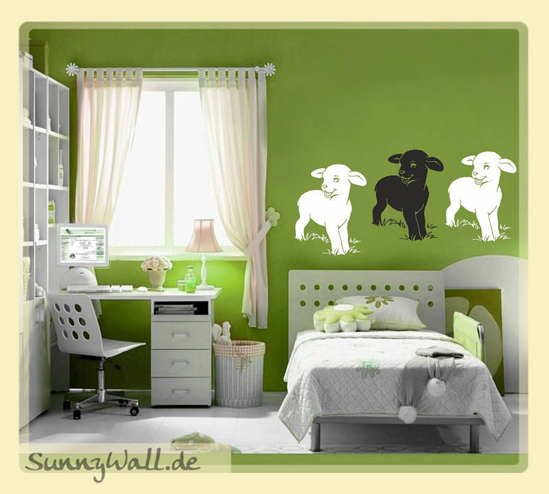 lamm schaf f r wohnzimmer kinderzimmer wandtattoo sunnywall online shop. Black Bedroom Furniture Sets. Home Design Ideas