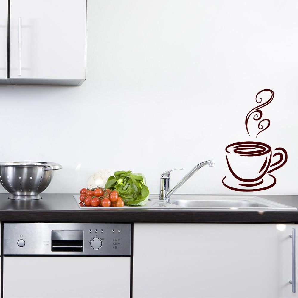Hot Coffee für Wohnzimmer & Küche Wandtattoo Sunnywall.de ...