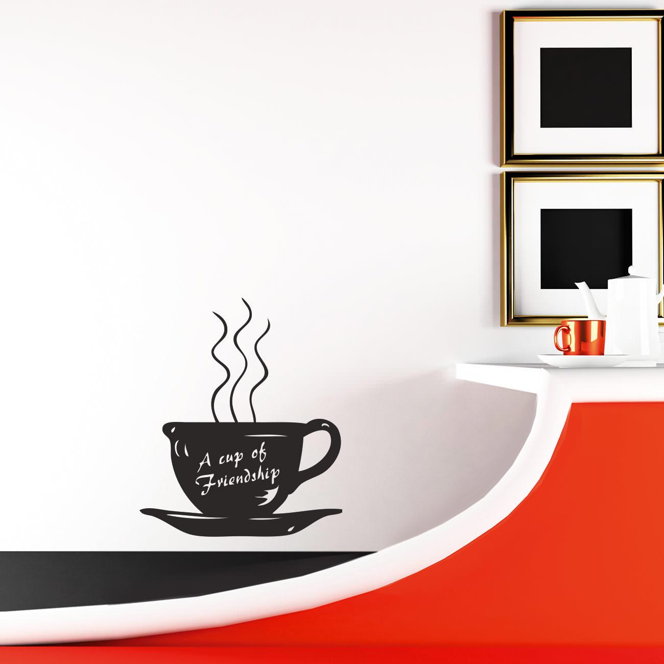 Cup of Friendship Tasse für Wohnzimmer & Küche Wandtattoo Sunnywall ...