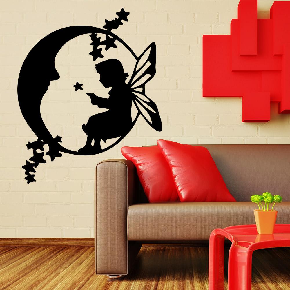 Mondfee f r wohnzimmer kinderzimmer wandtattoo sunnywall online shop - Wandtattoo mond ...