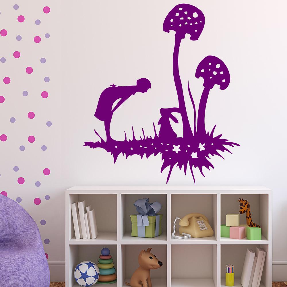 alice wunderland f r wohnzimmer kinderzimmer wandtattoo sunnywall online shop. Black Bedroom Furniture Sets. Home Design Ideas