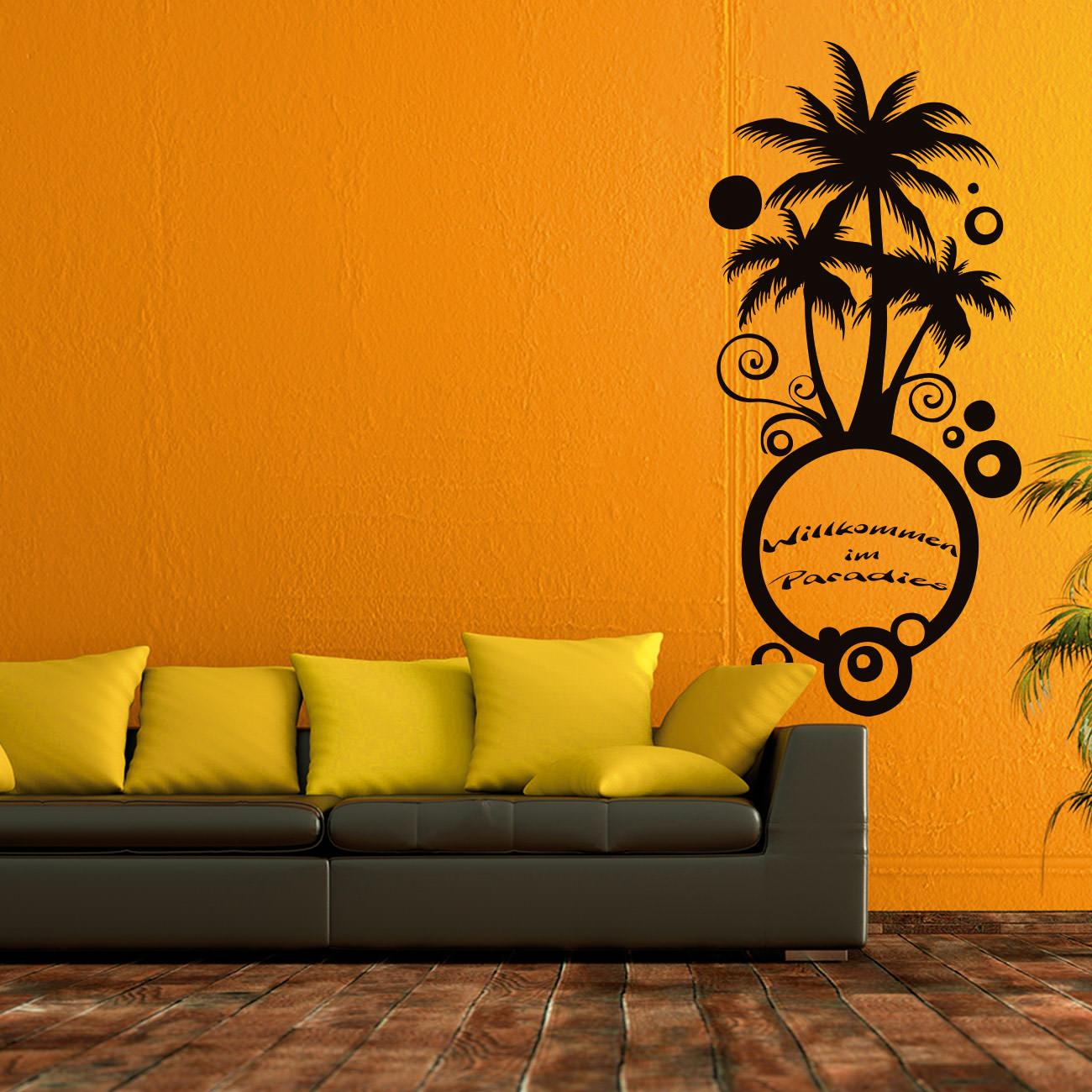 Wandtattoo palmen strand for Palme fur wohnzimmer