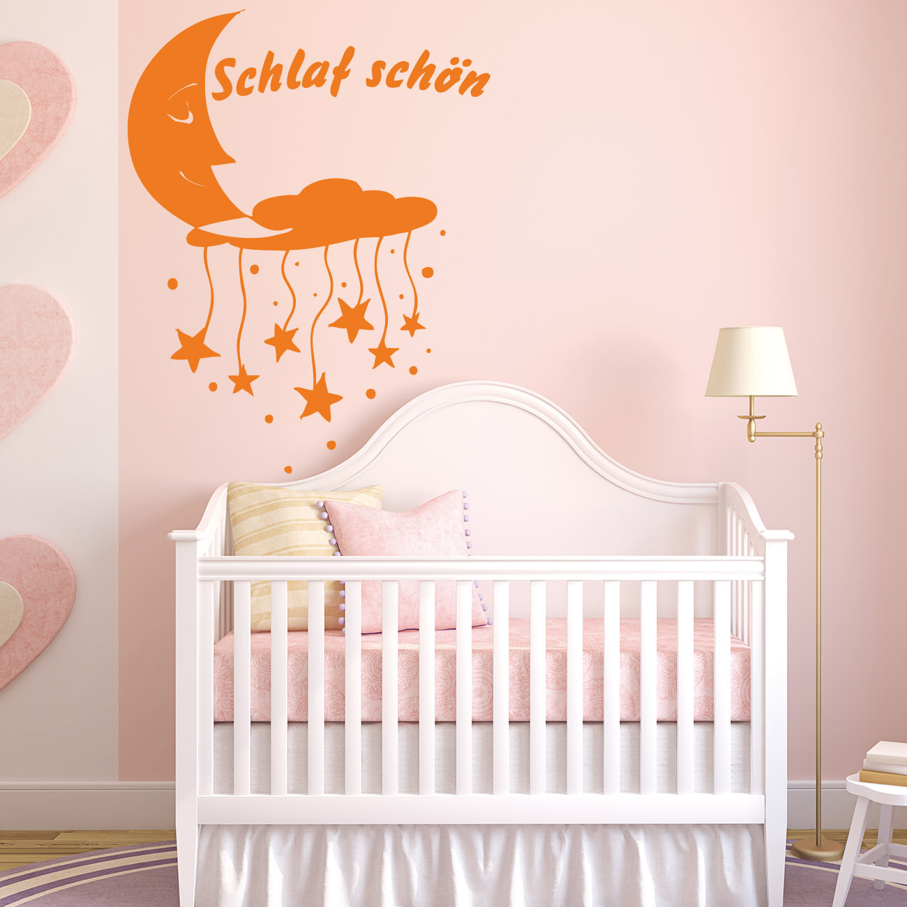 schlaf sch n f r wohnzimmer kinderzimmer wandtattoo. Black Bedroom Furniture Sets. Home Design Ideas