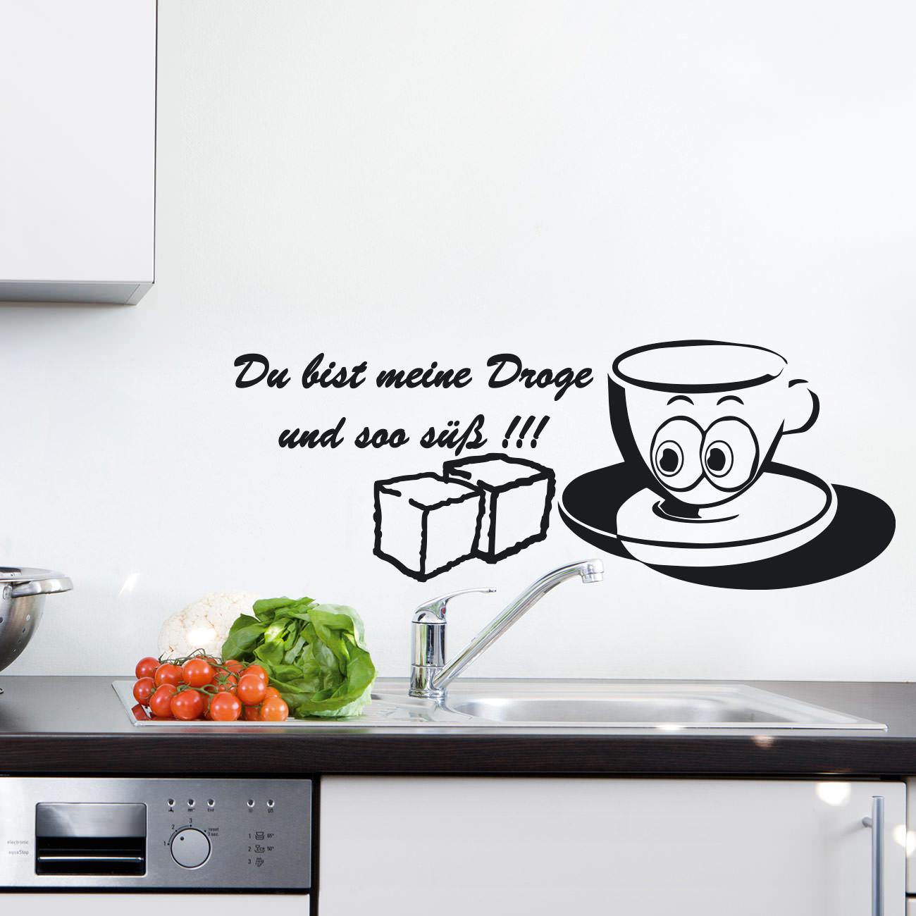 2+ Dekoration Wandtattoos & Wandbilder Wandtattoo Kaffeetasse ...