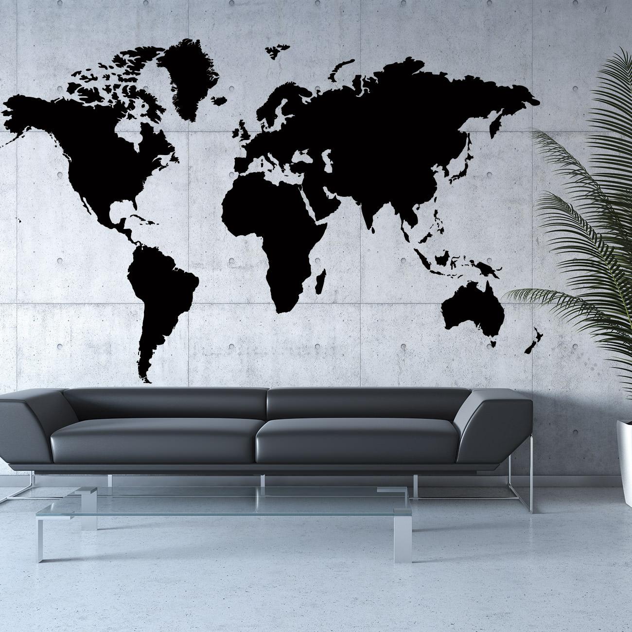 Anspruchsvoll Wandtattoo Weltkarte Foto Von Wandtattoos Atlas Worldmap. Worldmap_walltattoo