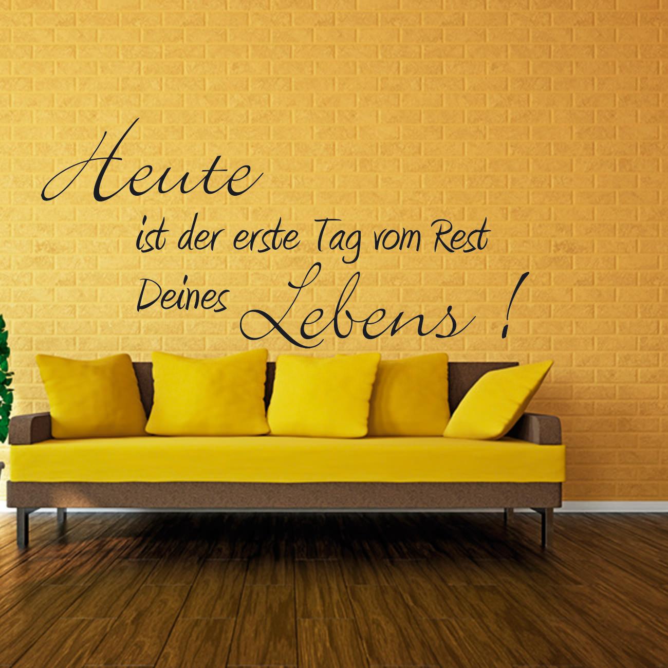 wandtattoo rest deines lebens sunnywall online shop. Black Bedroom Furniture Sets. Home Design Ideas