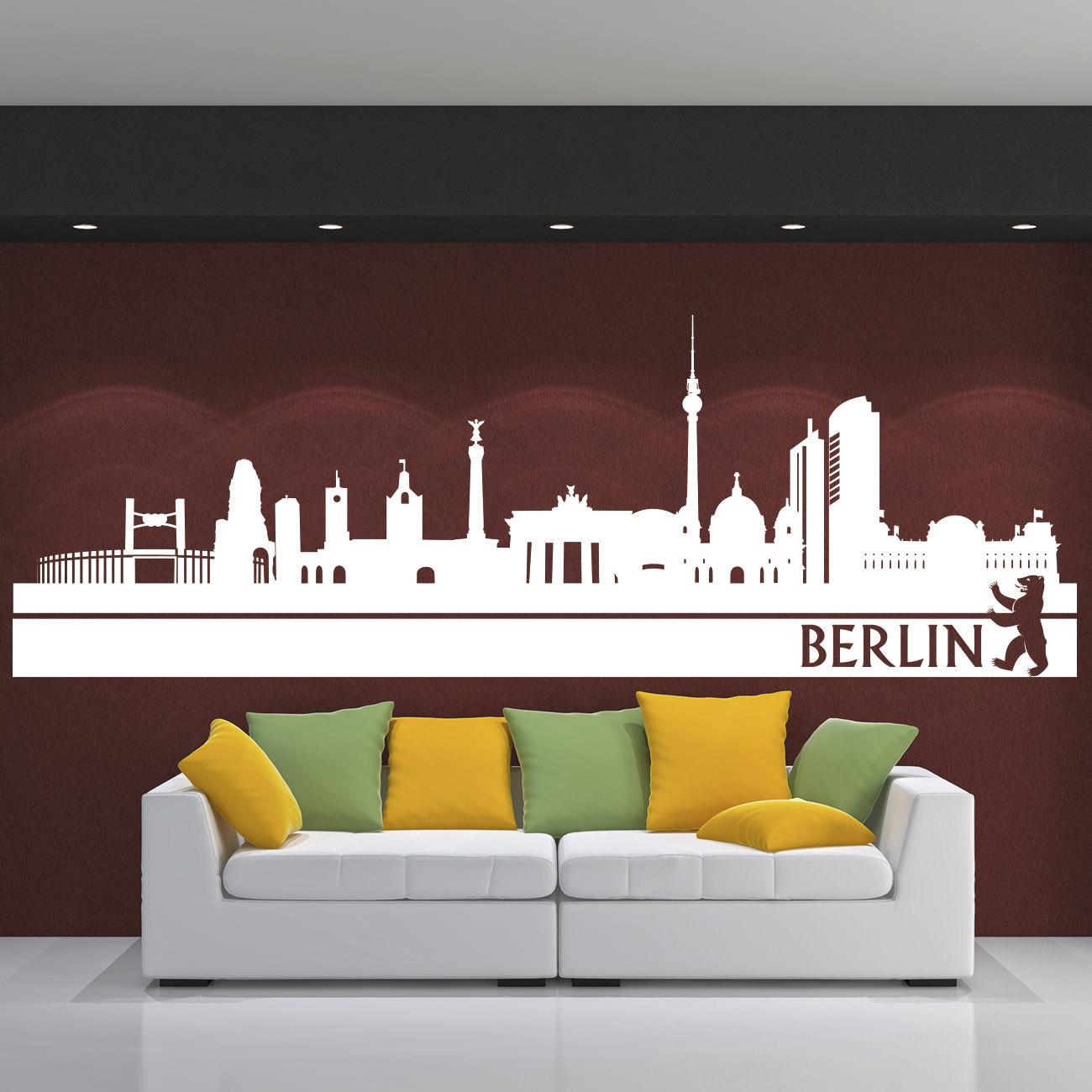 Wandtattoo Skyline Stadt BERLIN Panorama Deutschland. Skyline_berlin