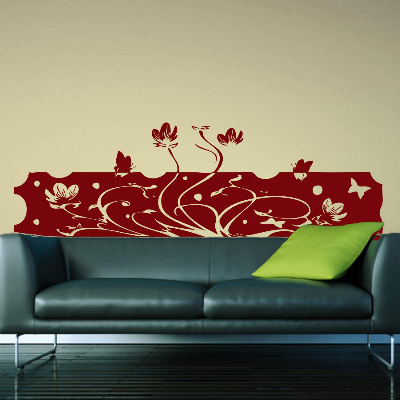 Wandtattoo als Blumenbanner fürs Schlafzimmer   Sunnywall Online-Shop
