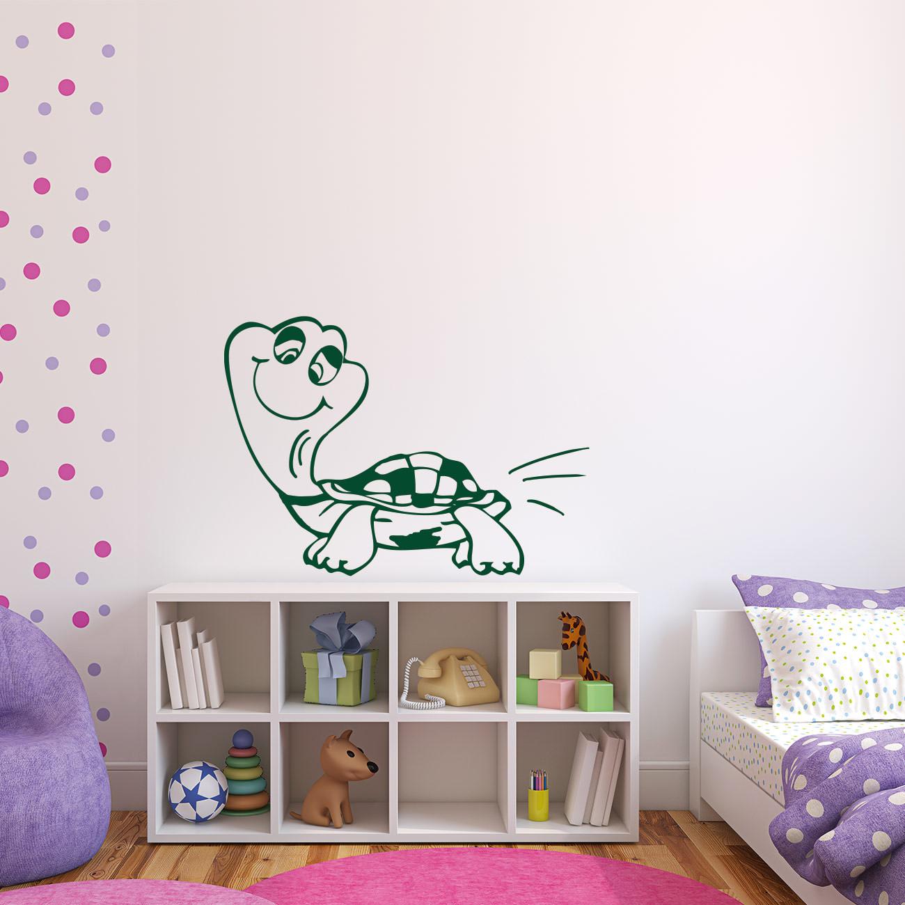 wandtattoo schildkr te f rs kinderzimmer sunnywall online shop. Black Bedroom Furniture Sets. Home Design Ideas