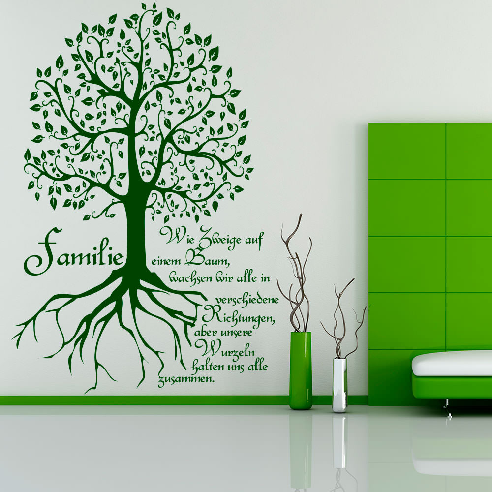 Family Baum Als Wandtattoo Sunnywall Online Shop