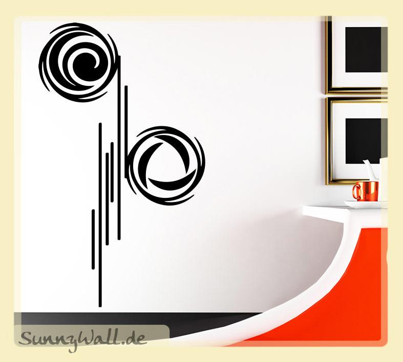 wandtattoo abstrakte moderne art stripes lines. Black Bedroom Furniture Sets. Home Design Ideas