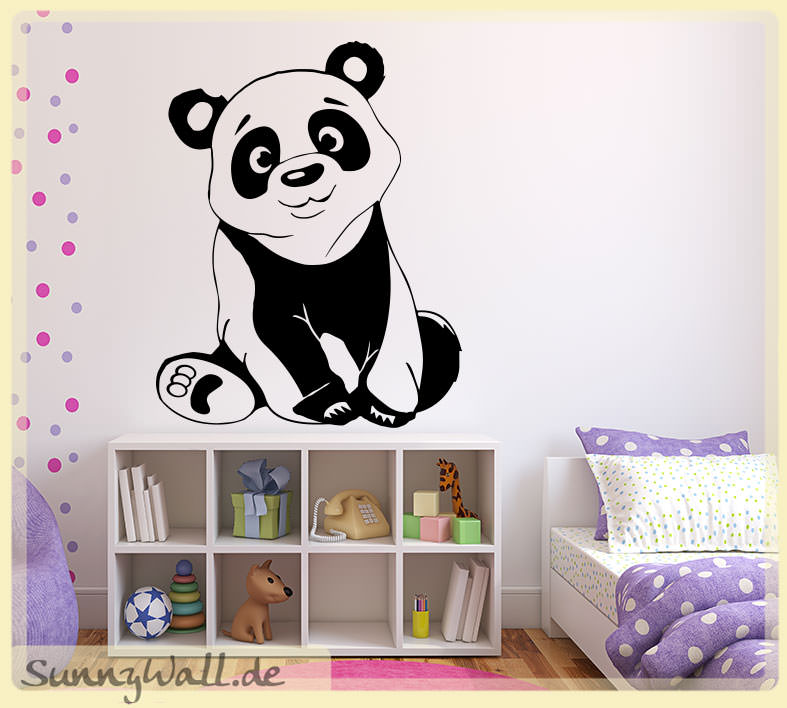 wandtattoo wandaufkleber pandab r sunnywall online shop. Black Bedroom Furniture Sets. Home Design Ideas