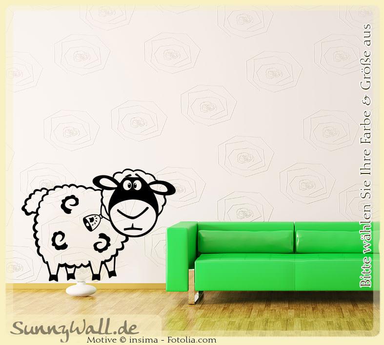 Wandtattoo Shop Wandtattoo Schaf Sheep Wolle Vers1
