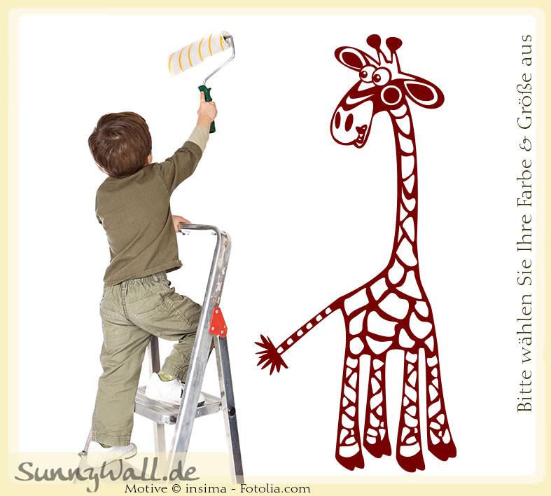 wandtattoo shop wandtattoo langer hals giraffe kids. Black Bedroom Furniture Sets. Home Design Ideas