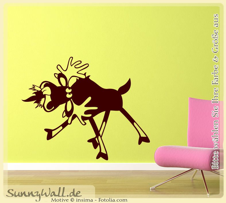 wandtattoo elch hirsch kids rehkid kinder sunnywall. Black Bedroom Furniture Sets. Home Design Ideas