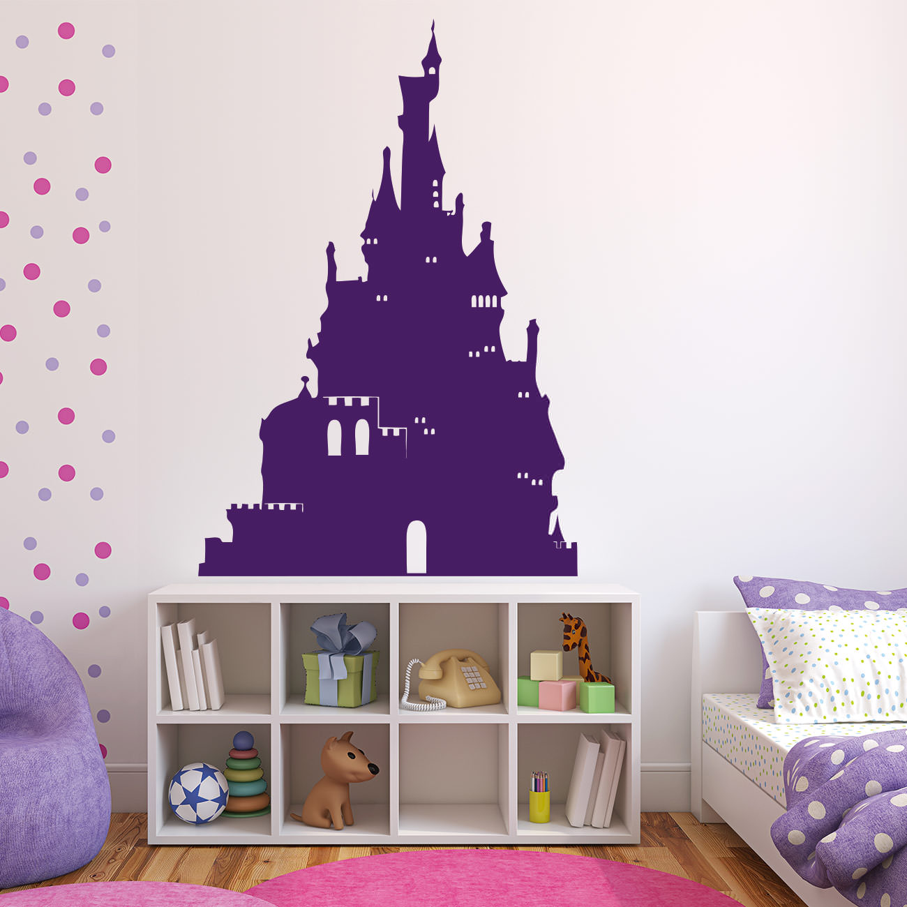 prinzessin schloss f r wohnzimmer kinderzimmer wandtattoo sunnywall online shop. Black Bedroom Furniture Sets. Home Design Ideas