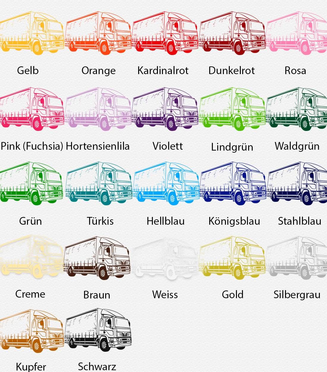 Wandtattoo LKW Lastwagen Trailer Führerhaus I 500