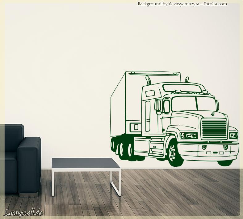 wandtattoo lkw lastwagen trailer f hrerhaus ii sunnywall. Black Bedroom Furniture Sets. Home Design Ideas