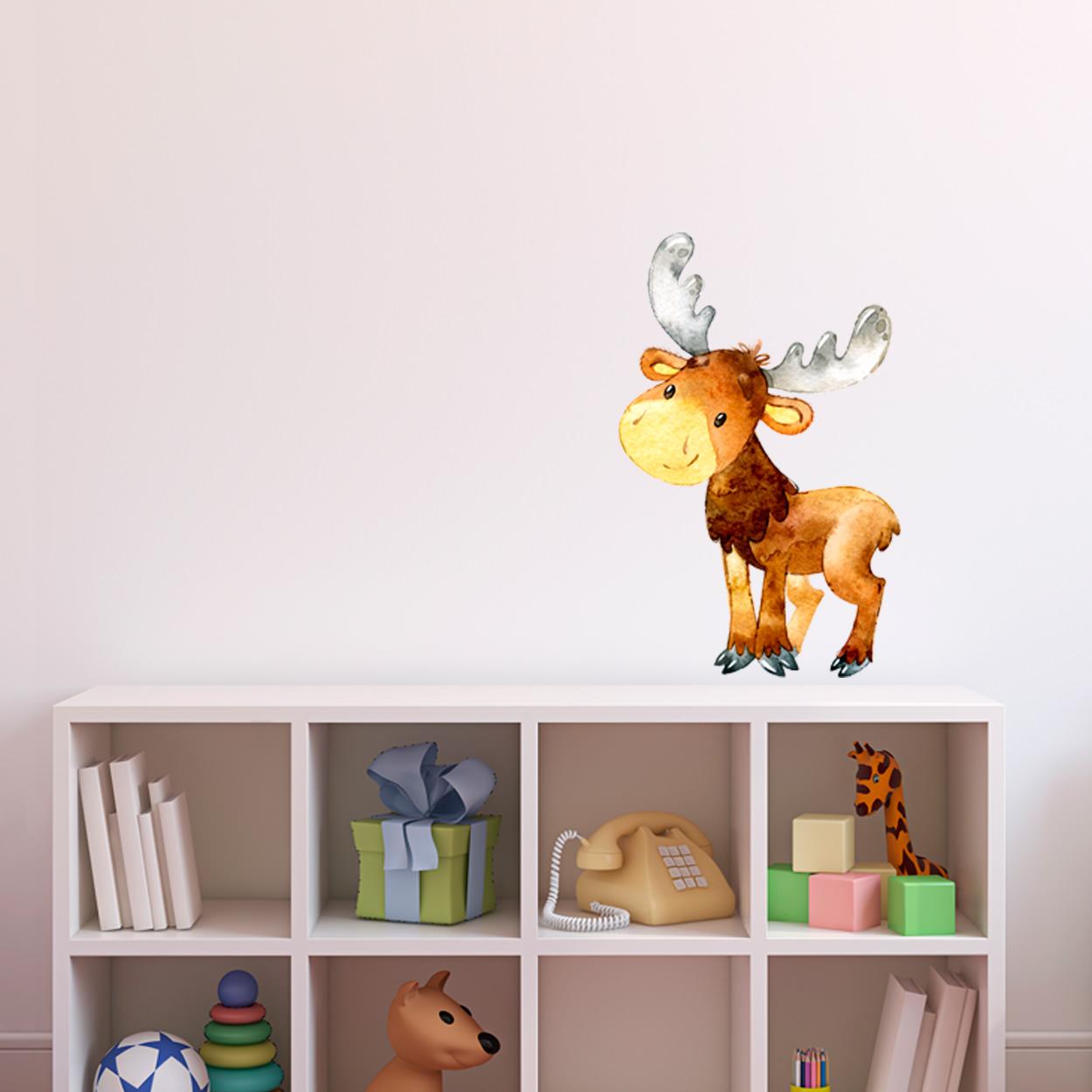 Wandtattoo Aufkleber Wandsticker Elch Hirsch Deer Kinderzimmer Dekoration