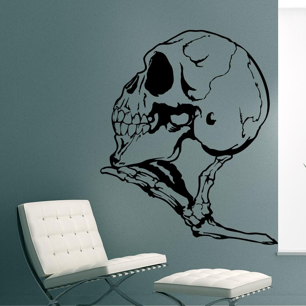 Wandtattoo Halloween Schädel Knochen skull Hand skelett   Sunnywall ...